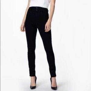 J brand Selena black skinny midrise 27